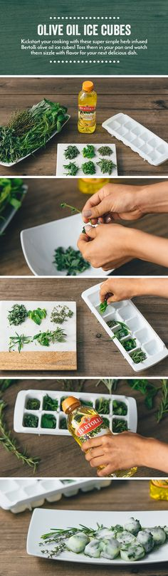 With your herb garden in full bloom, there is no better time to preserve the excess for future cooking. Combine herbs with olive oil and pop in the freezer for a fresh start to your dishes all year long.