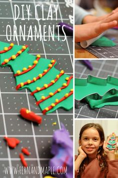 DIY Clay Christmas O