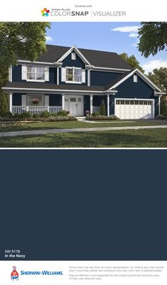 Siding benjamin moore briarwood color matched at sherwin for Exterior shutter visualizer