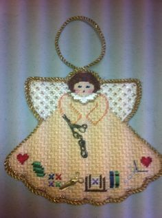 Steph Painted Pony needlepoint ornament stitching angel