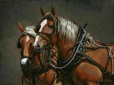 Horse painting by Adeline Halvorson