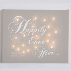 Personalised Light Up Canvas - Wedding Gift - Happily Ever After - From £57.95