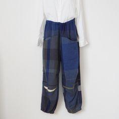 tamaki niime nica pants HOSO wool70% - 手仕事のうつわと雑貨の通販サイト|雑貨店アオトキイロ