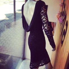 Elegant Lace Detail Dress by sama fashion Lace Detail, Blood, Backless, Elegant, Formal Dresses, Fashion, Classy, Moda, Formal Gowns
