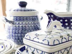Polish blue and white earthenware