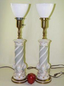 Rembrandt+lamps | Details About PAIR REMBRANDT FIGURAL HOLLYWOOD REGENCY  BANQUET LAMPS