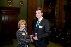 Ann Gloag OBE and Josh Kernohan, our winner in the Outstanding Student Nurse Category