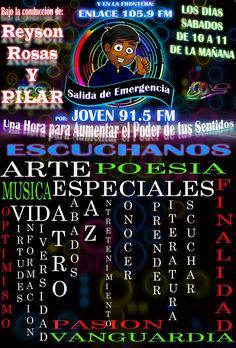 Reyson Rosas #Music #Passion #Life #Young #Pop #Rock #ElectronicMusic #SalidaDeEmergencia #Sabado #Pilar de 10 a 11 de la Mañana por Joven 91.5FM