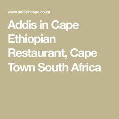 Addis in Cape Ethiopian Restaurant, Cape Town South Africa