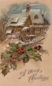 Antiche Immagini Di Natale.Antiche Cartoline Di Natale 15 Neve Invernale Cartoline