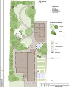 Среди рутинных дней на объектах мне, наконец-то, удалось найти время для проектирования. Чему я безмерно рада, ибо это моё самое любимое… Landscape Plans, Landscape Architecture, Landscape Design, Architecture Design, Garden Design, House Design, In Plan, How To Plan, Plan Sketch