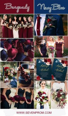 Burgundy Wedding Decoration, Navy Blue Wedding Decor, Burgundy Bridesmaid Dress, Navy Blue Bridesmaid Dresses and burgundy wedding Top Wedding Decoration Ideas Navy And Burgundy Wedding, Navy Wedding Flowers, Winter Wedding Colors, November Wedding Colors, Maroon Wedding Colors, Navy Blue Weddings, Fall Wedding Themes, Winter Wedding Ideas, Navy Blue Wedding Theme