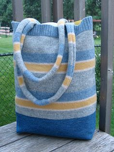 thrifted felted custom sweater bag