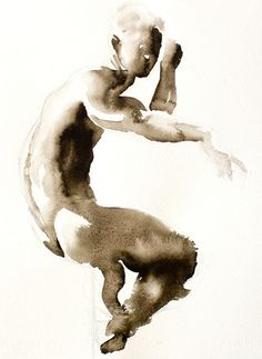 watercolor figure painting