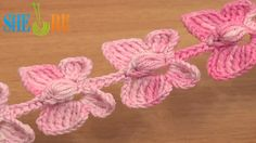 Crochet Butterfly Cord Tutorial 52 Crochet Butterflies http://sheruknitting.com/videos-about-knitting/romanian-lace-ribbons-and-cords/item/621-crochet-butterfly-cord.html  Crochet butterflies, how to crochet a butterfly, cord made of butterflies, crochet butterfly cord, crochet butterfly pattern. Butterfly crochet patterns are very popular all the time. This crochet tutorial shows you how to crochet a butterfly with flat wings and the puff stitch body.
