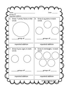 INTRODUCTION TO MULTIPLICATION (GROUPS OF & REPEATED ADDITION) - TeachersPayTeachers.com