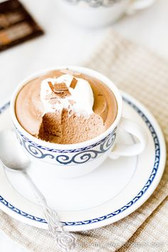 "Chocolate Whiskey Mousse Recipe - ""This mousse doesn't take long time to prepare and in this simplicity lies the key to its greatness. It is light, foamy, airy, yet has intense chocolate flavor enhanced by a bit of coffee and whiskey."""