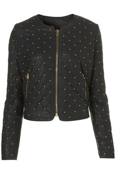 quilted leather jacket topshop.com