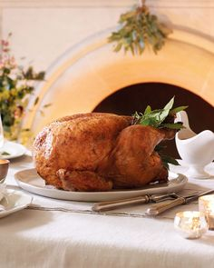 A Christmas roast with a spicy twist, if you want to simplify the recipe, just omit the spices and rub with fresh herbs and plenty of seasoning. Christmas Roast, Christmas Turkey, Spice Rub, Spice Mixes, Paprika Recipes, Roast Turkey Recipes, Roasting Tins, Rub Recipes, Yummy Food