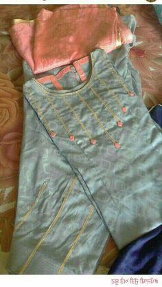 Punjabi suits Elegant Indian salwar kemeez CLICK Visit link for more details Punjabi Suit Neck Designs, Churidar Neck Designs, Kurta Neck Design, Kurta Designs Women, Salwar Designs, Pakistani Dress Design, Chudi Neck Designs, Neck Designs For Suits, Dress Neck Designs