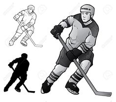 Image result for black and white ice hockey player