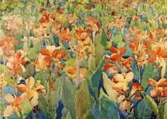 Bed of Flowers (also known as Cannas or The Garden) by Maurice Prendergast