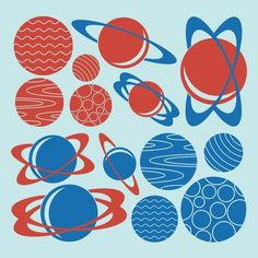 Planet Wall Decals Outer Space Nursery Kids Baby by graphicspaces, $40.00