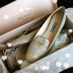 Easily transition from the office to evening cocktails with these Prada flats.     #prada