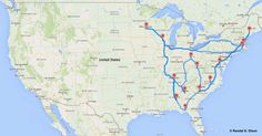 Computer scientist Randy Olson has written an algorithm for determining the most efficient road trip to 48 different states.