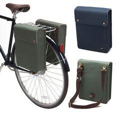 Commuting and Computing - Linus Bike Bag Cool Bicycles, Vintage Bicycles, Cool Bikes, Bicycle Sidecar, Bicycle Bag, Cycling Bag, Cycling Bikes, Leather Bicycle, Commuter Bike