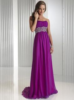 ELEGANT LONG PROM EVENING DRESS