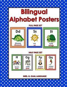 Bilingual Alphabet Posters~English and Spanish
