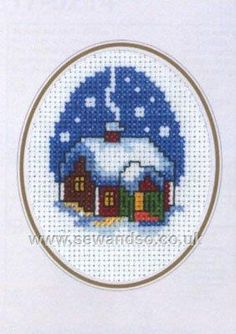 Newest Pictures Cross Stitch house Style It's Warmer Inside Card Cross Stitch Kit Cross Stitch House, Xmas Cross Stitch, Butterfly Cross Stitch, Cross Stitch Cards, Cross Stitch Borders, Cross Stitch Alphabet, Cross Stitch Animals, Cross Stitch Designs, Cross Stitching