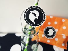 Cute Ghouls Party Rounds - Halloween Printable - by Design is Yay!