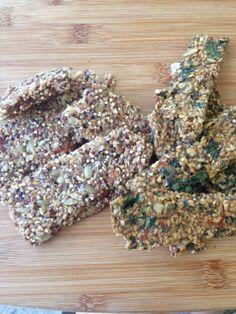 granola bars and flax crackers