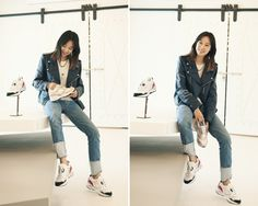#Hyojin Gong #공효진 Gong Hyo Jin, Work Fashion, Street Fashion, Mom Jeans, Tights, Vintage Fashion, Normcore, Beautiful Women, Celebs