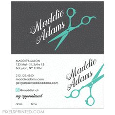 Hairstylist Business Cards