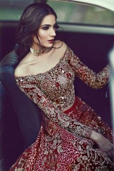 Latest Pakistani & Indian Bridal Lehenga And Bridal Gowns 2017 - PK Vogue Pakistani Wedding Dresses, Pakistani Bridal, Indian Dresses, Indian Outfits, Bridal Dresses, Wedding Gowns, Wedding Hijab, Indian Bridal Wear, Bridal Anarkali Suits