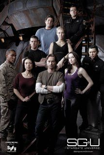 """STARGATE UNIVERSE (2009-2011) - The Previously unknown purpose of the """"Ninth Chevron"""" is revealed, and ends up taking a team to an Ancient ship """"Destiny"""""""