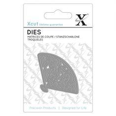 X-cut Mini Die (1pc) - Floral Fan - X-cut from Mountain Ash Crafts UK