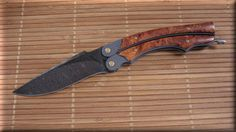 Stan Wilson Custom Knives Knife Handmade Handcrafted Folding Knife Maker Collectible Knife