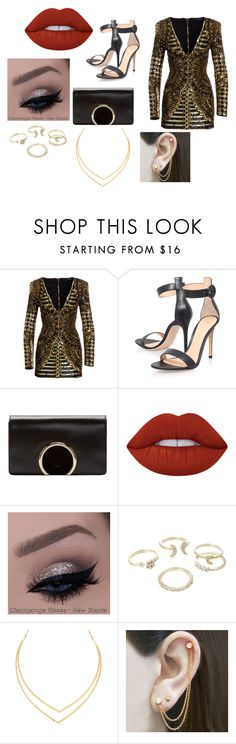 """""""Bilmy"""" by esteffa on Polyvore featuring Balmain, Gianvito Rossi, Chloé, Lime Crime, Lipsy, Lana y Embers Gemstone Jewellery"""
