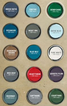 Fall/Winter 2013 West Elm Paint Palette by Sherwin Williams