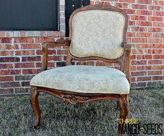 no-sew french chair reupholster