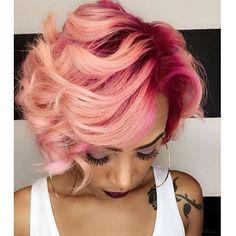 WEBSTA @ voiceofhair - This mermaid hair color is amazing @msklarie 💕 #voiceofhair #hamptonstylist #pinkhair #mermaidhair