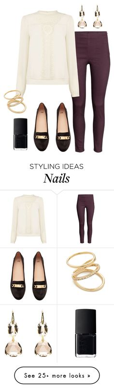 """""""Poison & Wine"""" by deliag on Polyvore featuring H&M, Oasis, Elizabeth and James and NARS Cosmetics"""