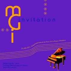 Invitation comme outil de communication, Festival du piano. [So Art !] #design