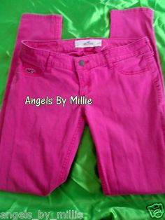 HUGE 1 Day auction #sale TONS OF ITEMS! Hurry!Hollister by Abercrombie 1 25 Dark Pink Colored Skinny Jeans Jeggings 22 | eBay