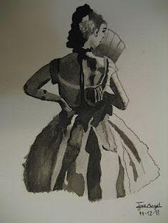 la bailarina - los dibujos de jose angel barbado - by jose angel barbado
