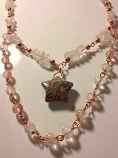 Icy Peach Star Necklace by TheTeacupandStarCo on Etsy, $45.00